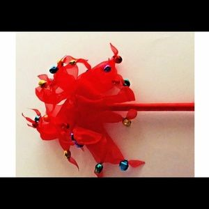 New Red Inkology Pen with Ribbon and Bells